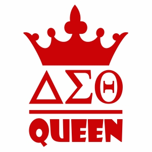 Delta Sigma Theta Queen svg