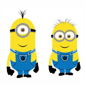Kevin and Dave Of Minions vector