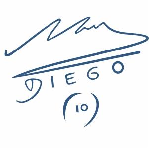 Diego Maradona 10 Signature Svg
