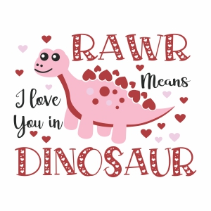 Rawr Means I love You In Dinosaur vector file