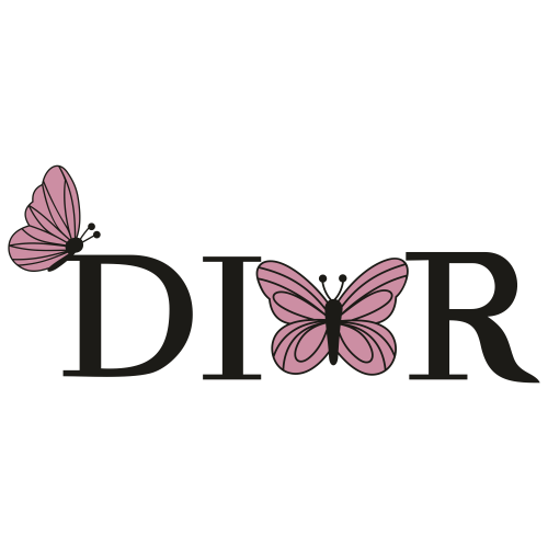 Dior Butterfly Logo Svg