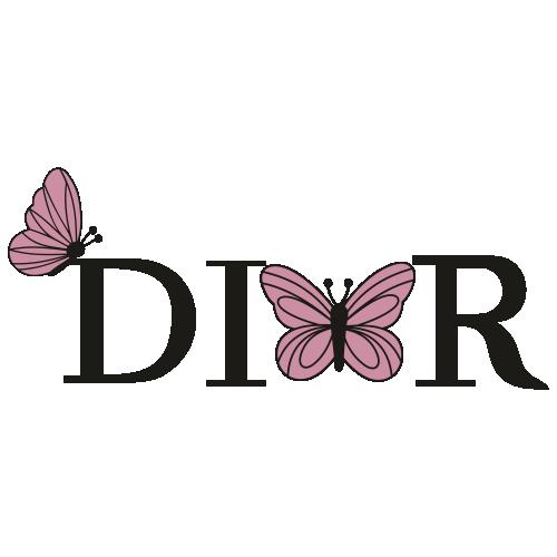 Dior Butterfly Logo Svg