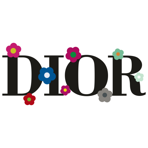 Dior Flower logo Svg