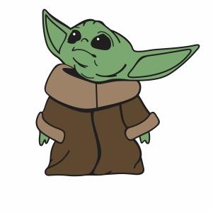 Alien  Baby Yoda Clipart