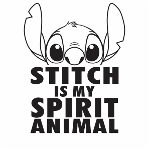 Stitch Is My Spirit Animal Vector