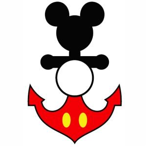 Disney Mickey Anchor Vector