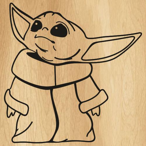 Disney Baby Yoda Svg
