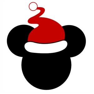 Mickey Christmas Cap Vector