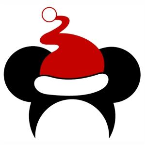 Minnie Christmas Cap Vector