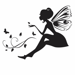 Black Fairy Girl Vector