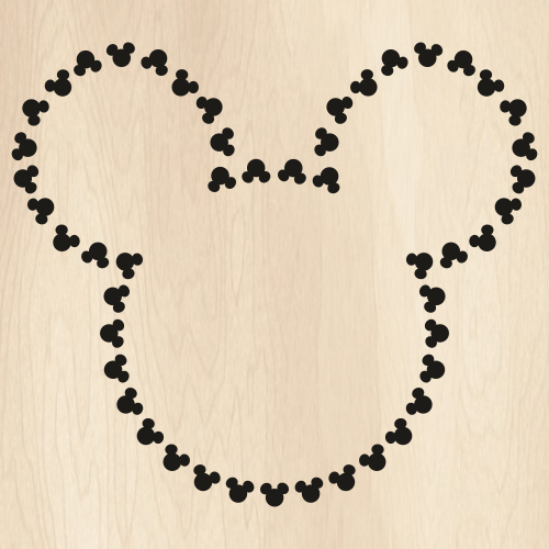 Mickey Heads Outline SVG