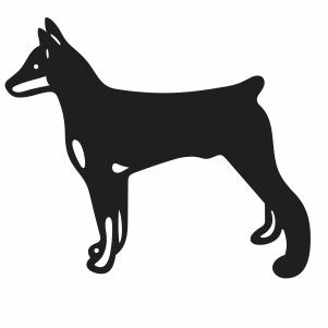 Doberman Pinscher Dog Svg