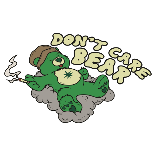 Dont Care Bear Cannabis Leaf Svg