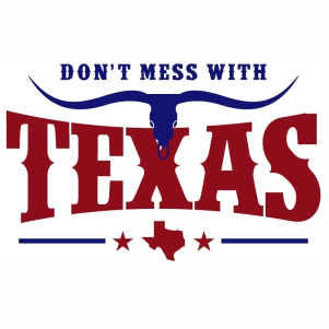 Dont Mess With Texas skull svg cut file