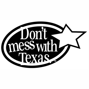 Dont Mess With Texas Black And White svg cut file