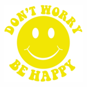 Dont Worry Be Happy logo Vector