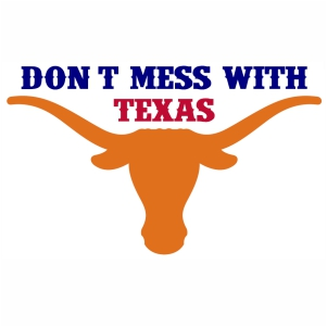 Dont Mess With Texas Bull Head svg cut file