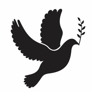 Dove Bird With Leaf Svg
