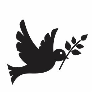 peace pigeon svg