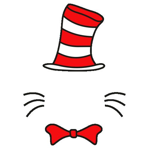 Dr Seuss Face With Hat Svg