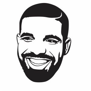 Drake Face Svg Singer Drake Face Svg Cut File Download Jpg Png Svg Cdr Ai Pdf Eps Dxf Format