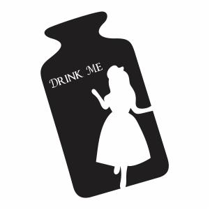 Disney Alice In Wonderland Drink Me Bottle Vector