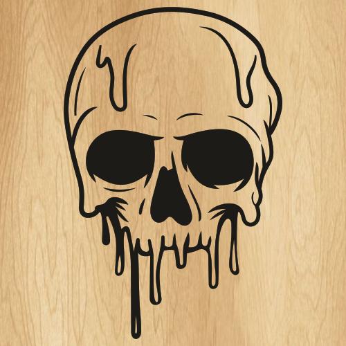 Dripping Skull SVG
