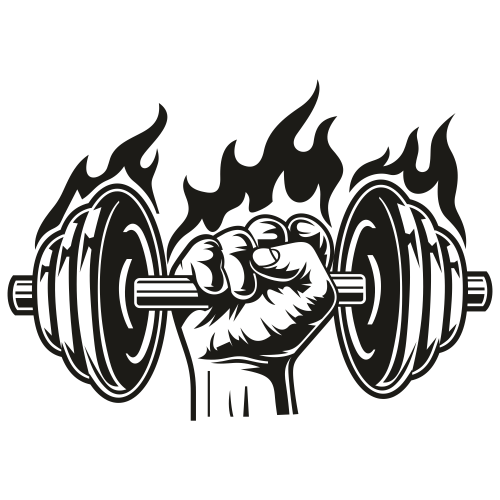 Dumbbell Fire Svg
