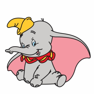 Dumbo Elephant Vector