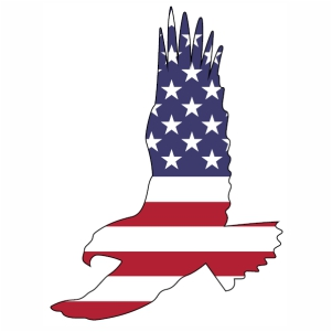 Eagle American Flag svg cut file