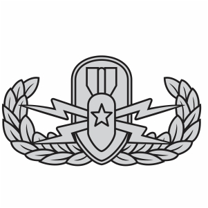 US Army Explosive Ordnance Disposal Badge Svg