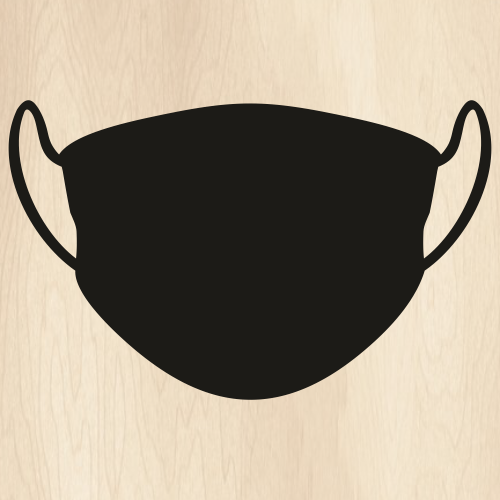 Simple Face Mask Svg