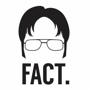 Dwight Schrute Fact Svg