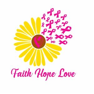 Faith Hope Love Flower Svg