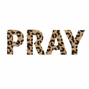 Praying Leopard Print Vector