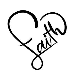 Faith Heart Vector