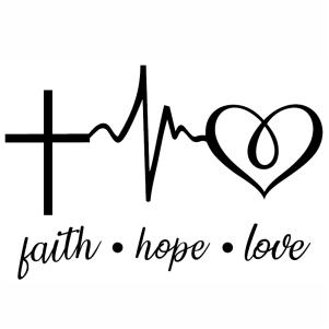 Faith Hope Love Heartbeat svg cut file
