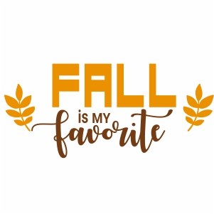 Fall Is My Favorite Clipart
