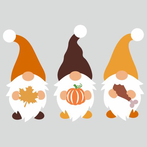 Fall Gnomes Svg