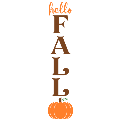 Fall Porch Sign Clipart