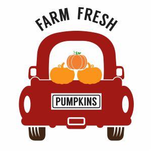 Pumpkins Truck Vector