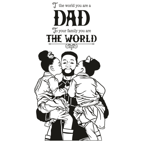 Father And Children Svg