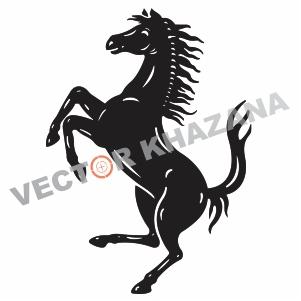 Ferrari Horse Logo Svg