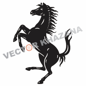 Ferrari Horse Logo Vector