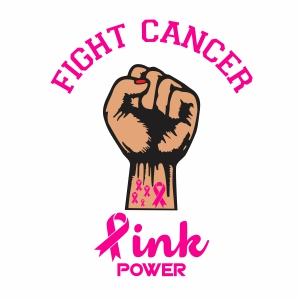 Fight Cancer Pink Power Vector