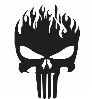 Fire Skull svg cut