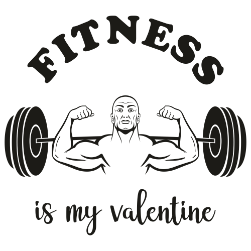 Fitness is my valentine Svg
