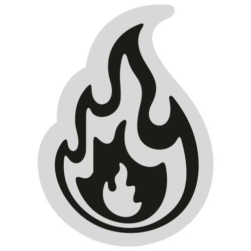 Flame Charm Svg
