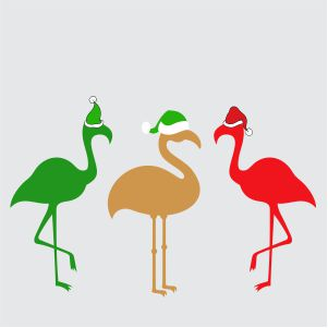 Christmas Flamingo Svg