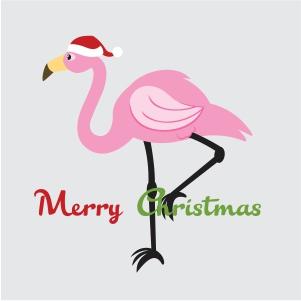 Merry Christmas Flamingo Svg